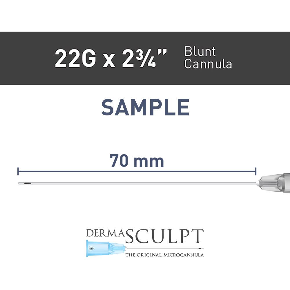 "Single  Cannula of 22G x 2¾"" (70mm)"